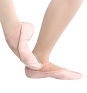 Adult Silhouette Canvas Split-Sole Ballet Slippers