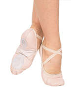 Adult Silhouette Leather Split-Sole Ballet Slippers