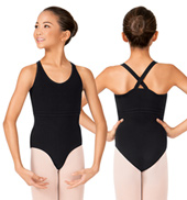Girls Cross Back Camisole Leotard