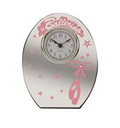 Ballerina Mirrored Clock