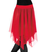 Plus Size Double Layer Chiffon Skirt