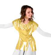 Womens Worship Metallic Tunic Pullover