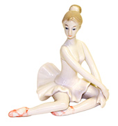 Ceramic Ballerina Statue