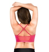 Adult Power Mesh X-Back Camisole Bra Top