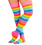 Rainbow Thigh High Sock