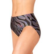 Adult Metallic Printed Dance Briefs