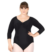 Adult Plus Size 3/4 Sleeve Leotard