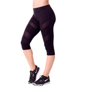 Teen Cece Sheer Stripe Insert Capri Leggings