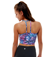 Teen Liv Printed Strappy Back Tank Crop Top