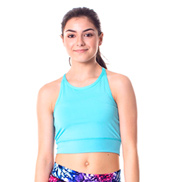 Teen Liv Solid Strappy Back Tank Crop Top