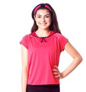 Teen Lizzie Sheer Stripe Backless Short Sleeve Tee