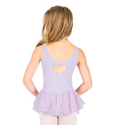 Girls Pinch Front Heart Tank Dress