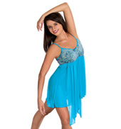 Girls Sequin Camisole Performance Dress