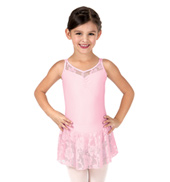 Girls Lace Double Camisole Strap Dress