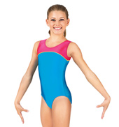 Child Gymnastics Tank Color Block Leotard