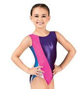 Child Gymnastics Tank Metallic Insert Leotard