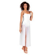 Adult Long Chiffon Panel Camisole Dress