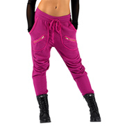 Adult Zipper Pocket Harem Sweat Pants
