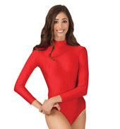Adult Nylon Long Sleeve Mock Neck Leotard