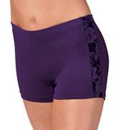 Adult Short with Lace Side Panel