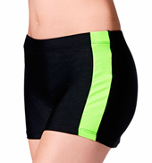 Adult Two-Tone Side Stripe Color Block Short