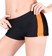 Girls Two-Tone Side Stripe Color Block Short