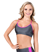 Adult Two-Tone Camisole Bra Top with Racer Back