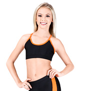 Girls Two-Tone Camisole Bra Top with Racer Back