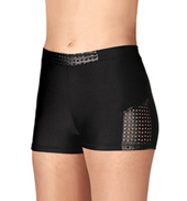 Adult Square Print Dance Shorts