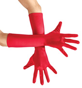 Adult Elbow-Length Satin Gloves