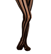 Sheer Vertical Stripe Print Stockings