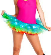 Adult Light Up Neon Rainbow Tutu