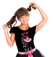 Child Funky Dancer Cap Sleeve Tee