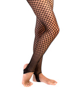 Adult Stirrup Fishnet Tights