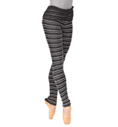 Adult Stripe Knit Roll Down Warm Up Pants