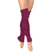 Adult Stripe Knit 36 Legwarmers