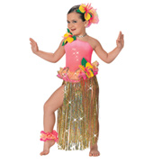 Hawaiian Girls Costume Set