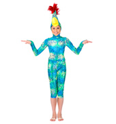 Birds of Paradise Girls Long Sleeve Hooded Unitard