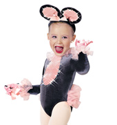 Quiet Like a Mouse Girls Costume Set
