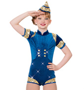 Girls Proud to Be an American Romper Costume