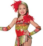 Girls Jungle Fever Costume Leotard