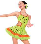 Girls Ready to Dance in Lime/Orange