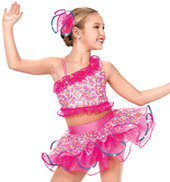Girls Latin Lady Costume Dress