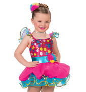 Girls Color Explosion Costume Dress