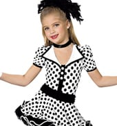Girls Polka Dots Costume Leotard