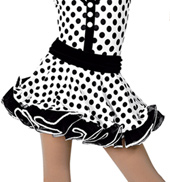 Girls Polka Dots Costume Skirt