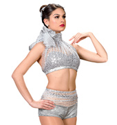 Child Girls Rule Costume Set in Silver