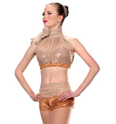 Child Girls Rule Costume Set in Copper