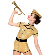 Girls Boogie Woogie Bugle Boy Romper Costume