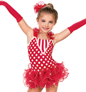 Girls Polka Dots, Checks and Stripes Costume Dress